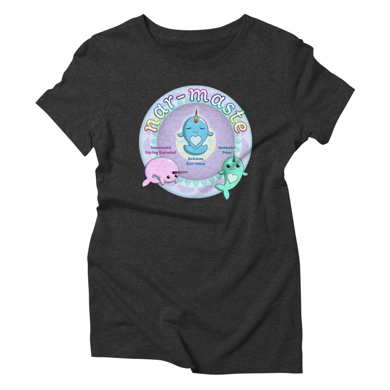 Narwhals Doing Yoga Women's Triblend T-Shirt by Ferine Fire