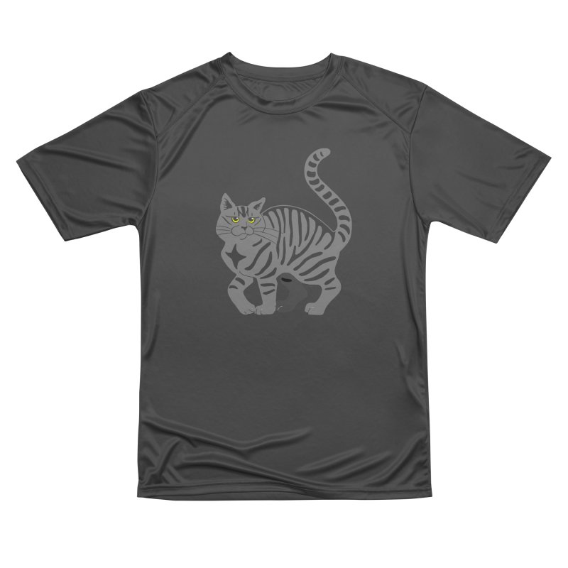 Gray Tabby Cat Women's Performance Unisex T-Shirt by Ferine Fire