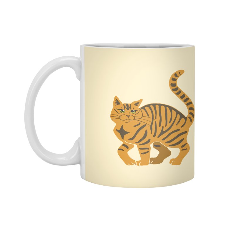Orange Tabby Cat Accessories Mug by Ferine Fire