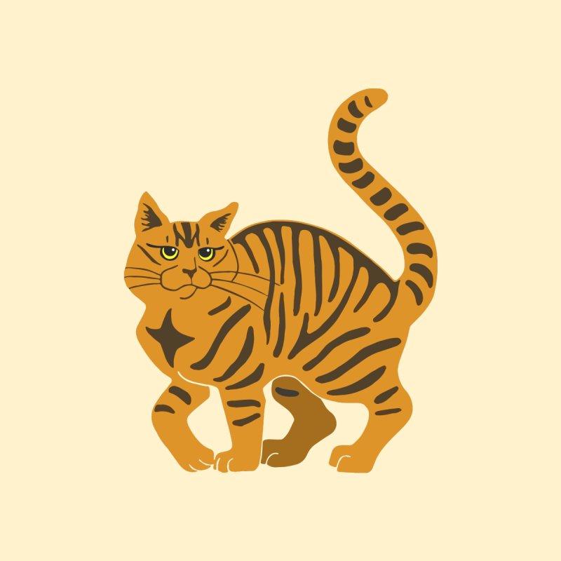 Orange Tabby Cat Men's T-Shirt by Ferine Fire
