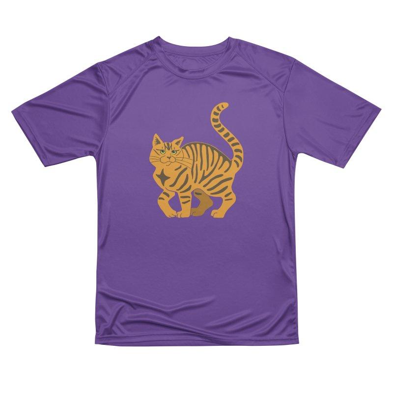 Orange Tabby Cat Women's Performance Unisex T-Shirt by Ferine Fire