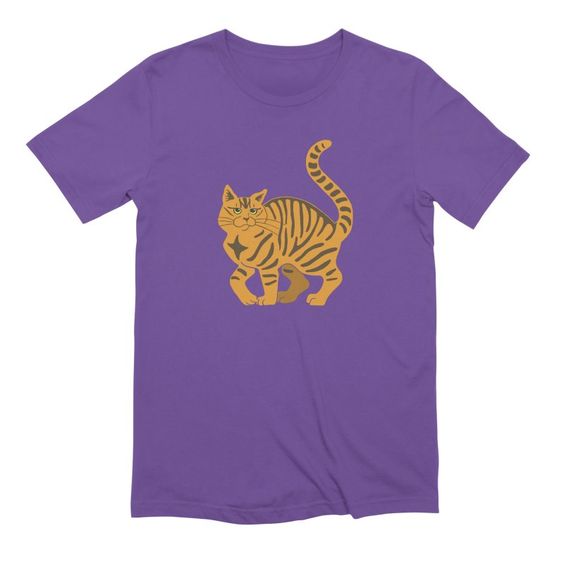 Orange Tabby Cat Men's Extra Soft T-Shirt by Ferine Fire