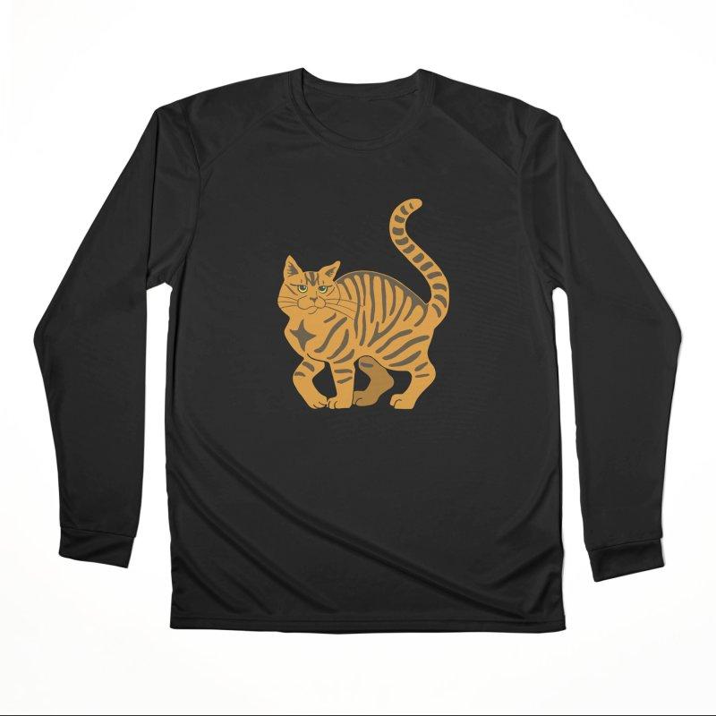 Orange Tabby Cat Men's Performance Longsleeve T-Shirt by Ferine Fire