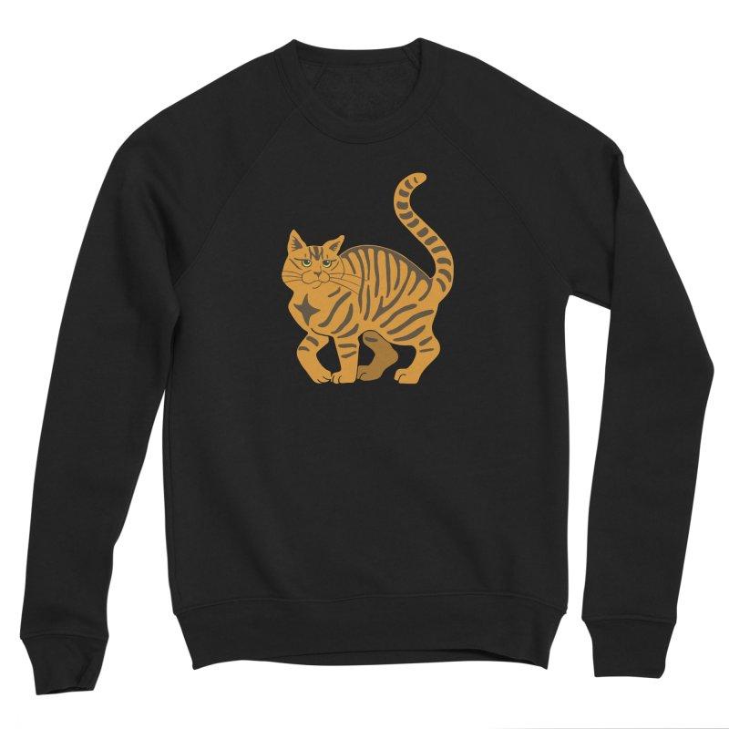 Orange Tabby Cat Women's Sponge Fleece Sweatshirt by Ferine Fire