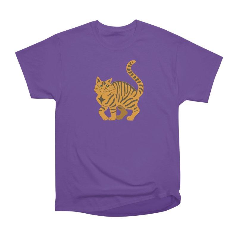 Orange Tabby Cat Women's Heavyweight Unisex T-Shirt by Ferine Fire
