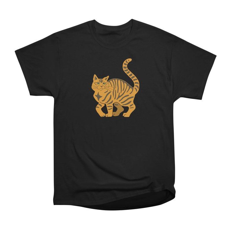 Orange Tabby Cat Men's Heavyweight T-Shirt by Ferine Fire