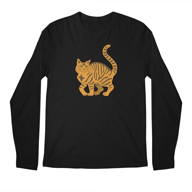 Orange Tabby Cat Men's Regular Longsleeve T-Shirt by Ferine Fire