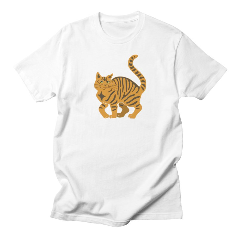 Orange Tabby Cat Women's Regular Unisex T-Shirt by Ferine Fire
