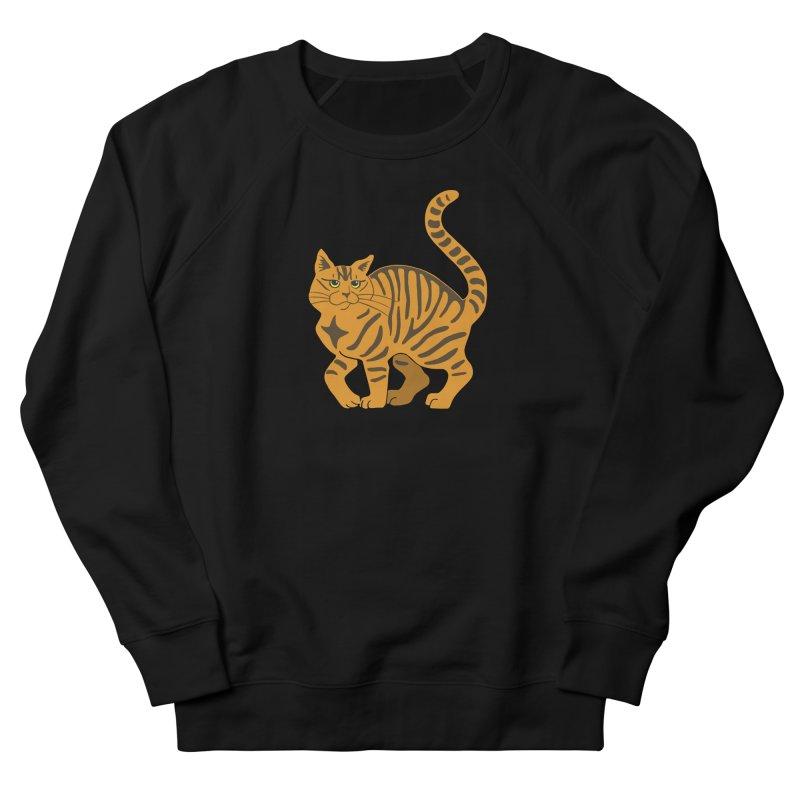 Orange Tabby Cat Men's French Terry Sweatshirt by Ferine Fire