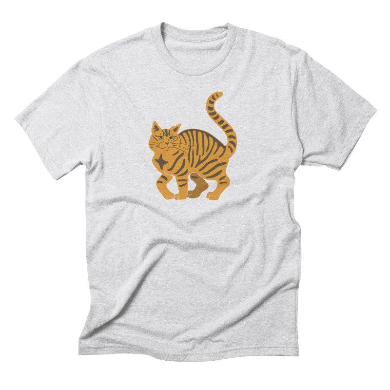Orange Tabby Cat Men's Triblend T-Shirt by Ferine Fire