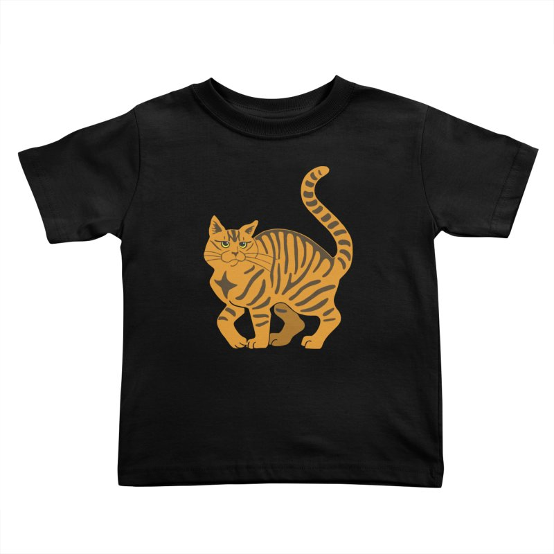 Orange Tabby Cat Kids Toddler T-Shirt by Ferine Fire