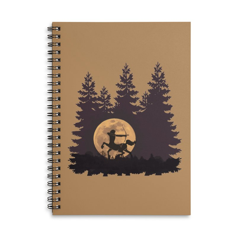 Hunter's Moon Accessories Lined Spiral Notebook by Ferine Fire