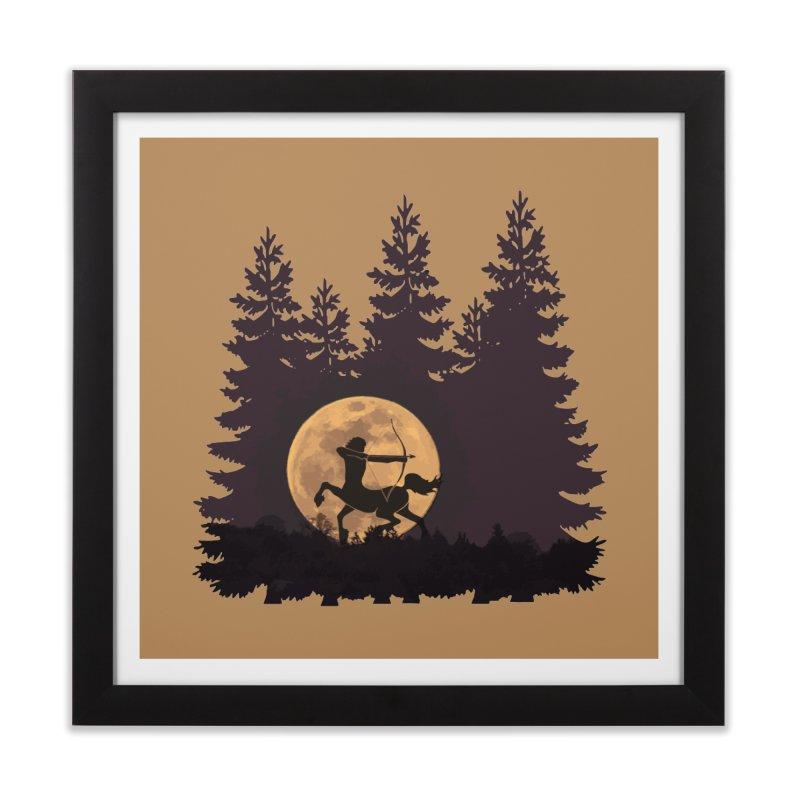 Hunter's Moon Home Framed Fine Art Print by Ferine Fire