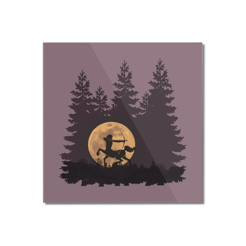 Hunter's Moon Home Mounted Acrylic Print by Ferine Fire