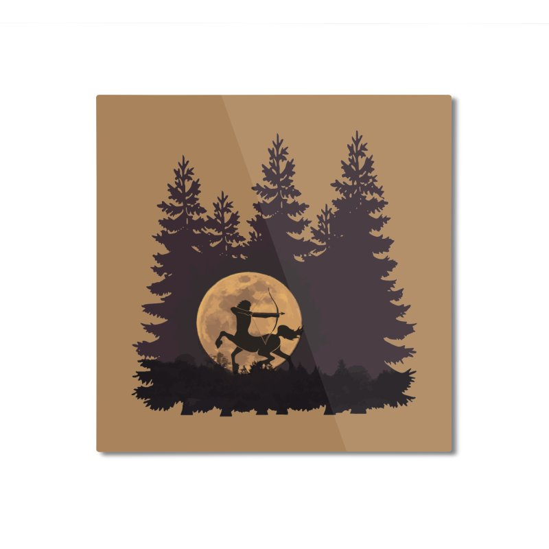 Hunter's Moon Home Mounted Aluminum Print by Ferine Fire