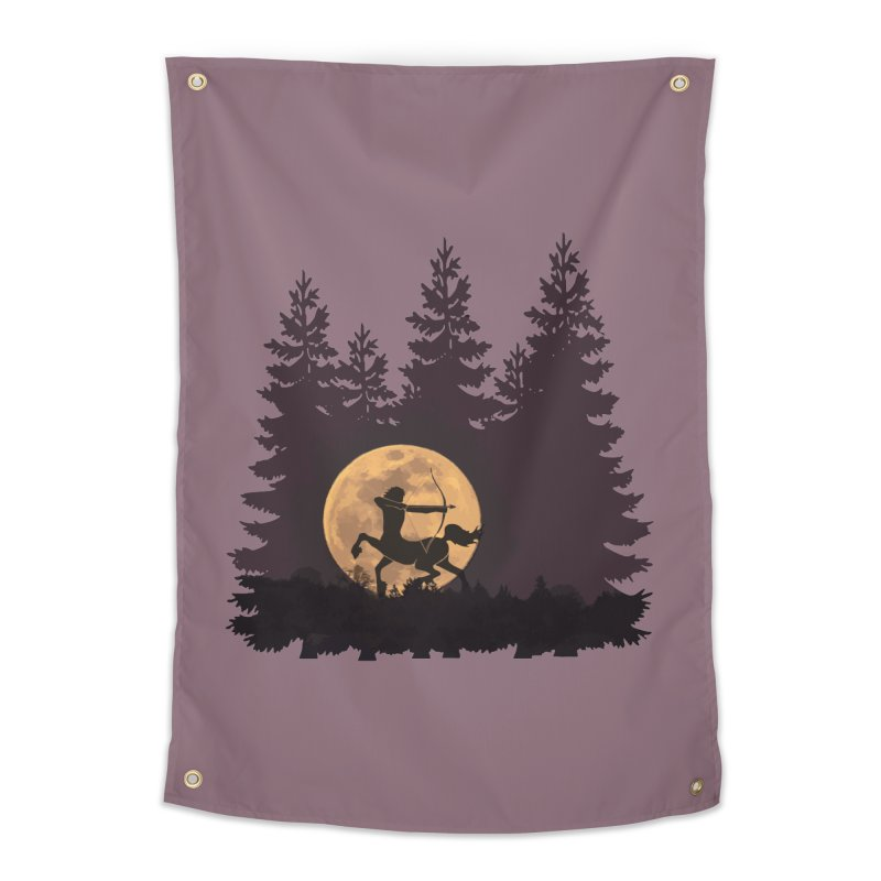 Hunter's Moon Home Tapestry by Ferine Fire