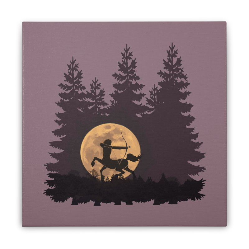 Hunter's Moon Home Stretched Canvas by Ferine Fire