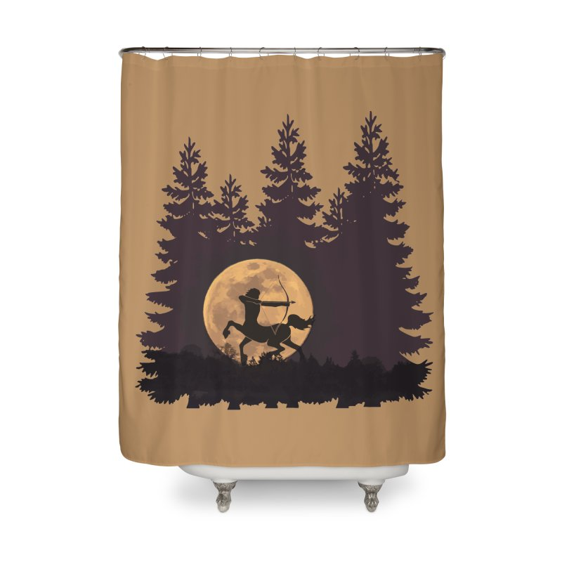 Hunter's Moon Home Shower Curtain by Ferine Fire