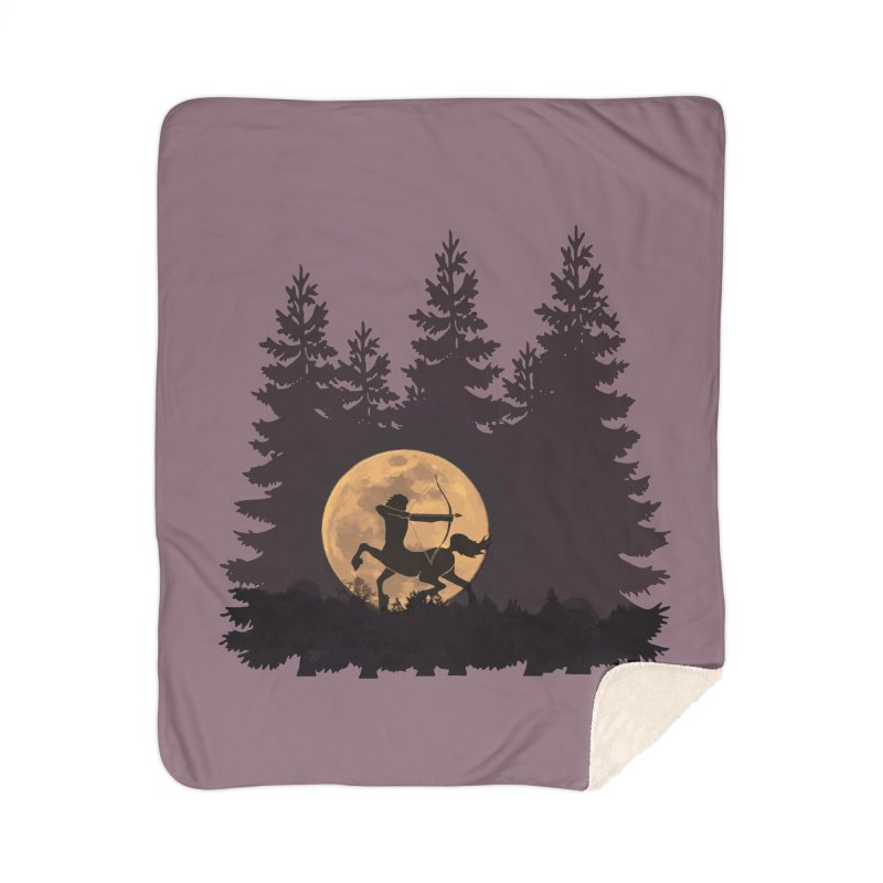 Hunter's Moon Home Sherpa Blanket Blanket by Ferine Fire