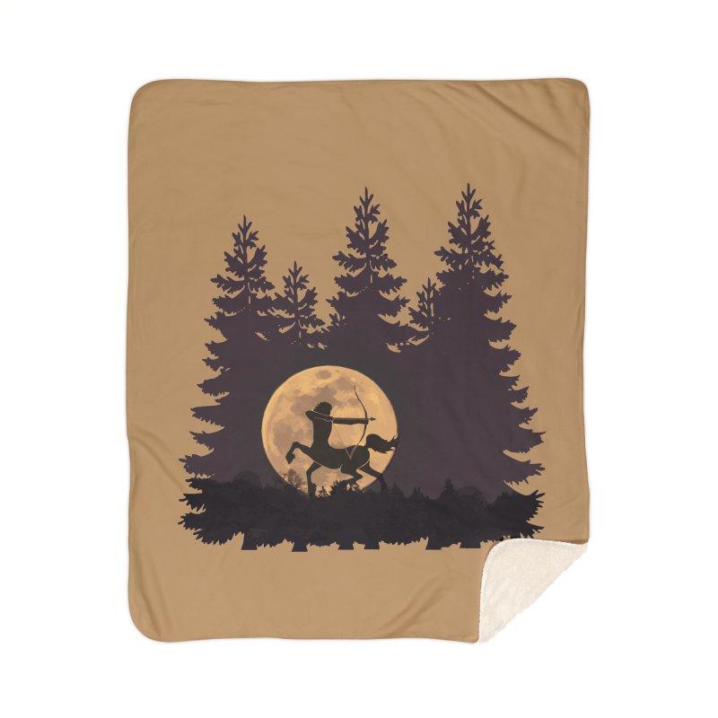 Hunter's Moon Home Sherpa Blanket Blanket by Ferine Fire