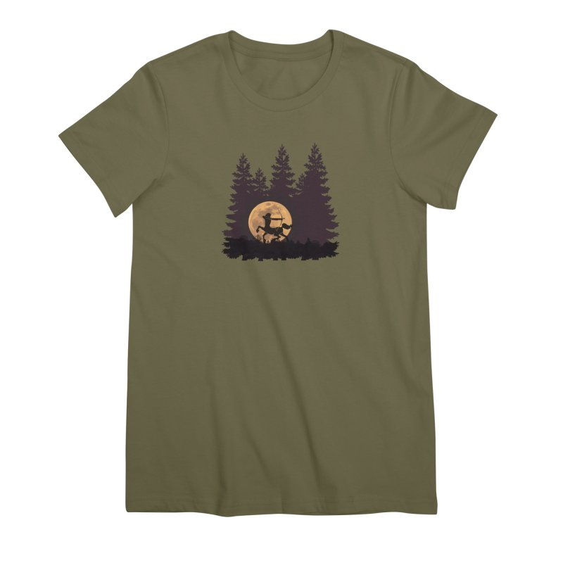 Hunter's Moon Women's Premium T-Shirt by Ferine Fire