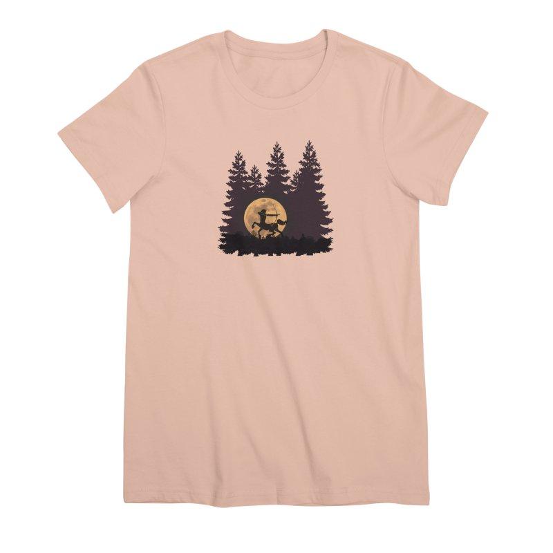 Hunter's Moon Women's Premium T-Shirt by Ferine Fire