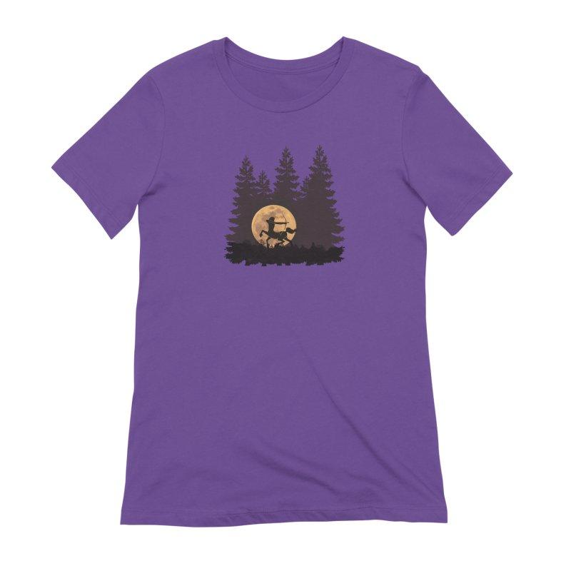 Hunter's Moon Women's Extra Soft T-Shirt by Ferine Fire