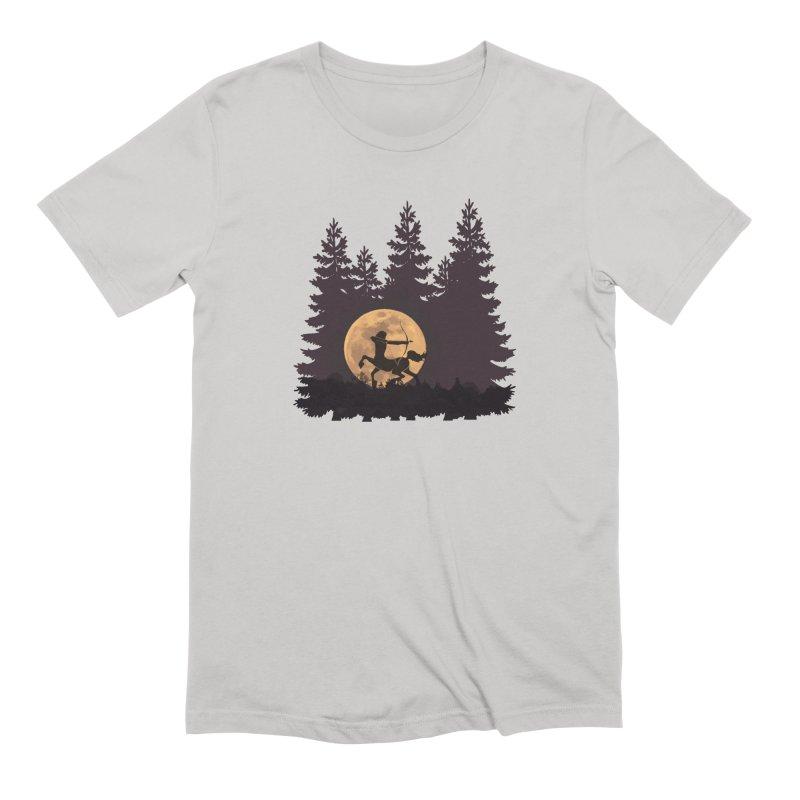 Hunter's Moon Men's Extra Soft T-Shirt by Ferine Fire