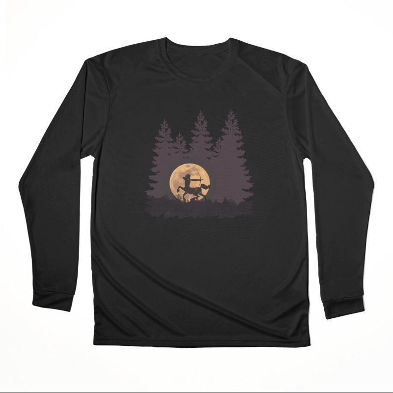 Hunter's Moon Women's Performance Unisex Longsleeve T-Shirt by Ferine Fire