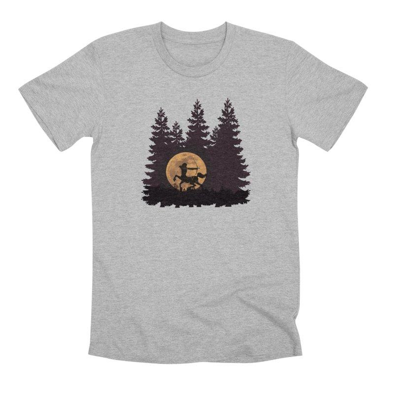 Hunter's Moon Men's Premium T-Shirt by Ferine Fire