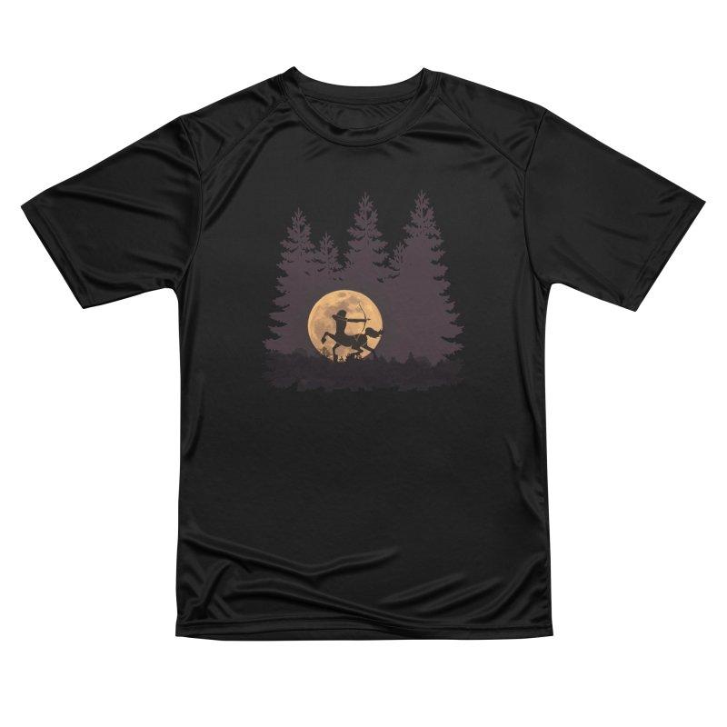 Hunter's Moon Women's Performance Unisex T-Shirt by Ferine Fire