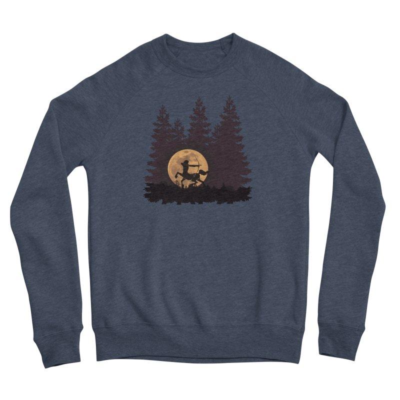 Hunter's Moon Men's Sponge Fleece Sweatshirt by Ferine Fire