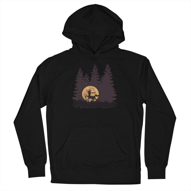 Hunter's Moon Men's French Terry Pullover Hoody by Ferine Fire