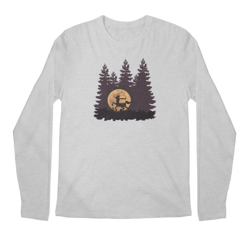 Hunter's Moon Men's Regular Longsleeve T-Shirt by Ferine Fire