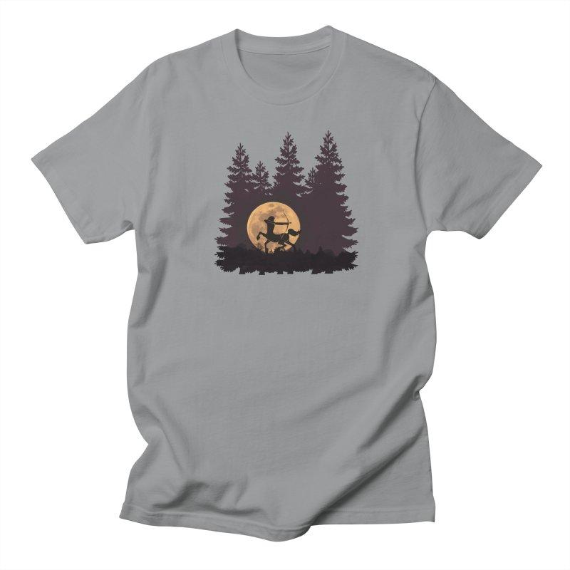 Hunter's Moon Men's Regular T-Shirt by Ferine Fire