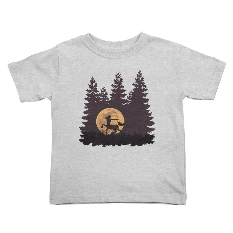 Hunter's Moon Kids Toddler T-Shirt by Ferine Fire