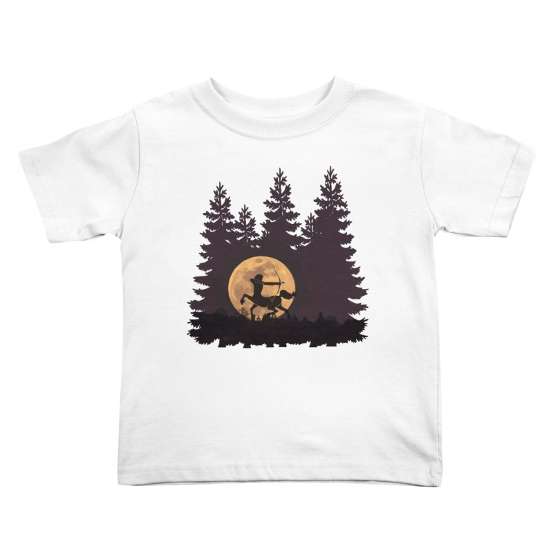 Hunter's Moon Kids Toddler T-Shirt by Ferine Fire