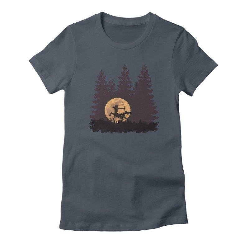 Hunter's Moon Women's T-Shirt by Ferine Fire