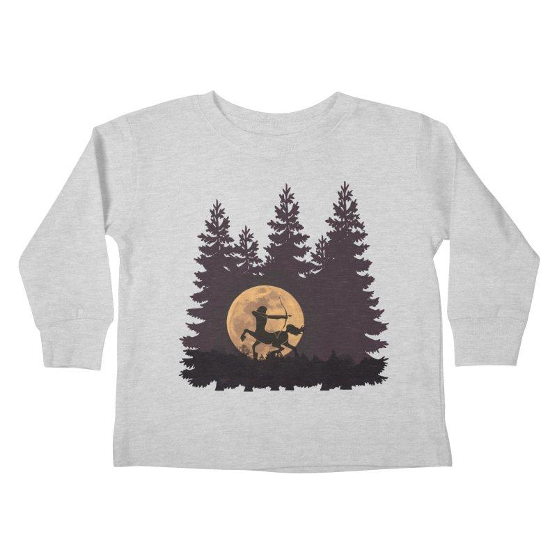 Hunter's Moon Kids Toddler Longsleeve T-Shirt by Ferine Fire