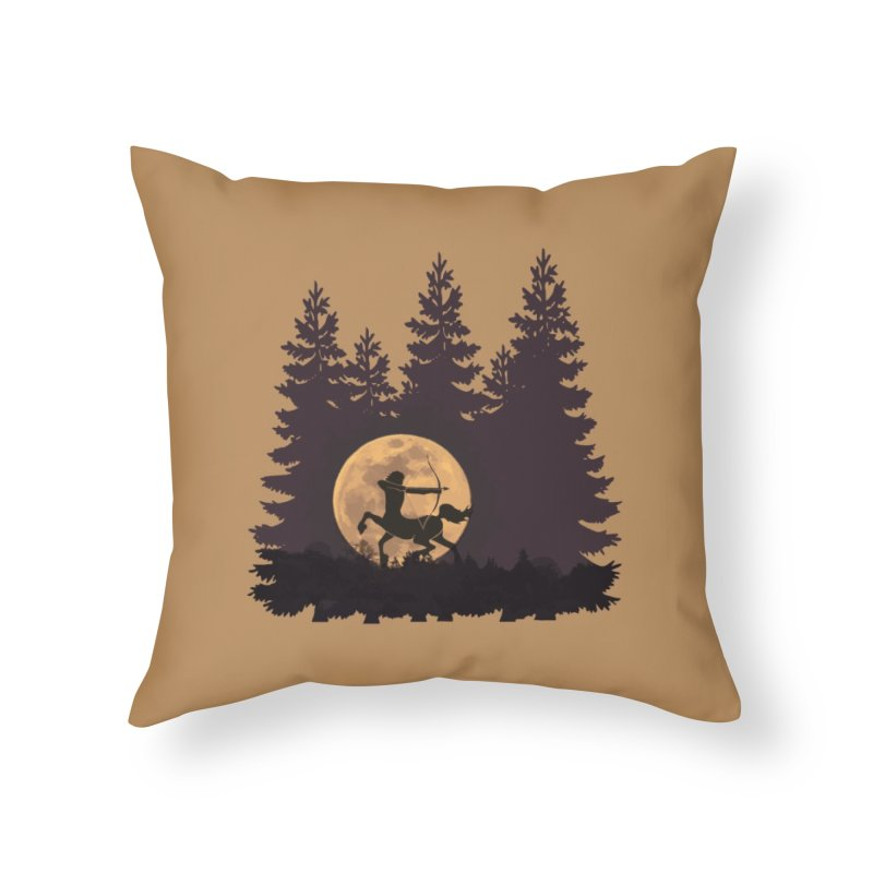 Hunter's Moon Home Throw Pillow by Ferine Fire