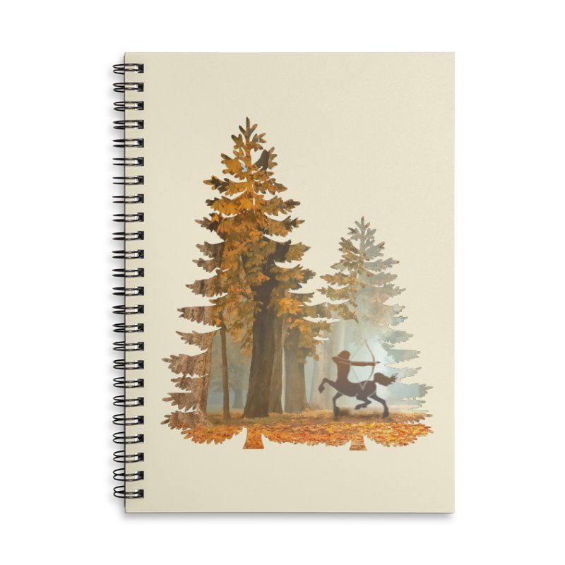 Mystic Hunt Accessories Lined Spiral Notebook by Ferine Fire