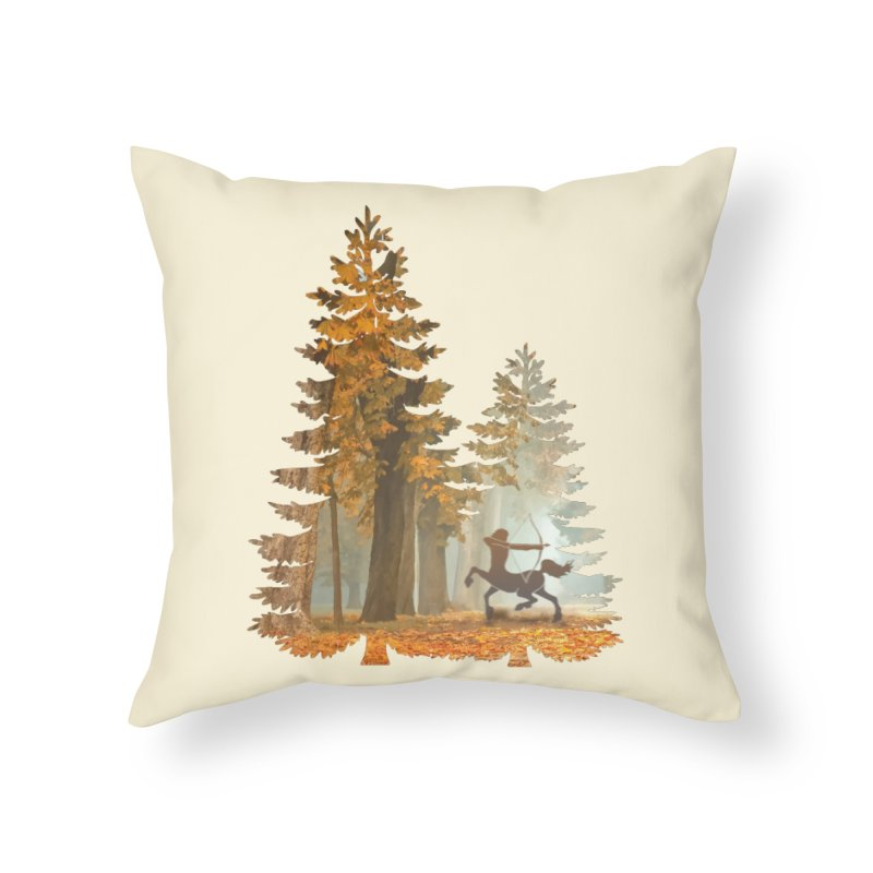 Mystic Hunt Home Throw Pillow by Ferine Fire