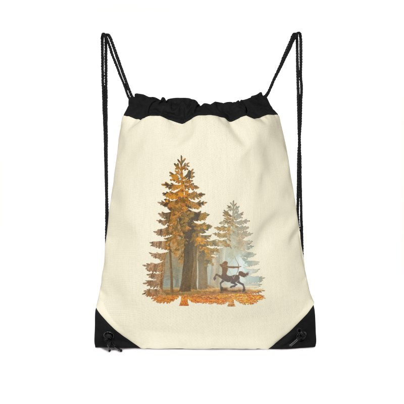 Mystic Hunt Accessories Drawstring Bag Bag by Ferine Fire