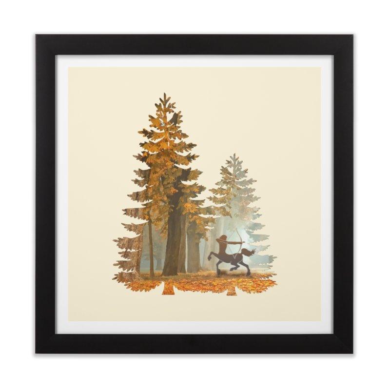 Mystic Hunt Home Framed Fine Art Print by Ferine Fire
