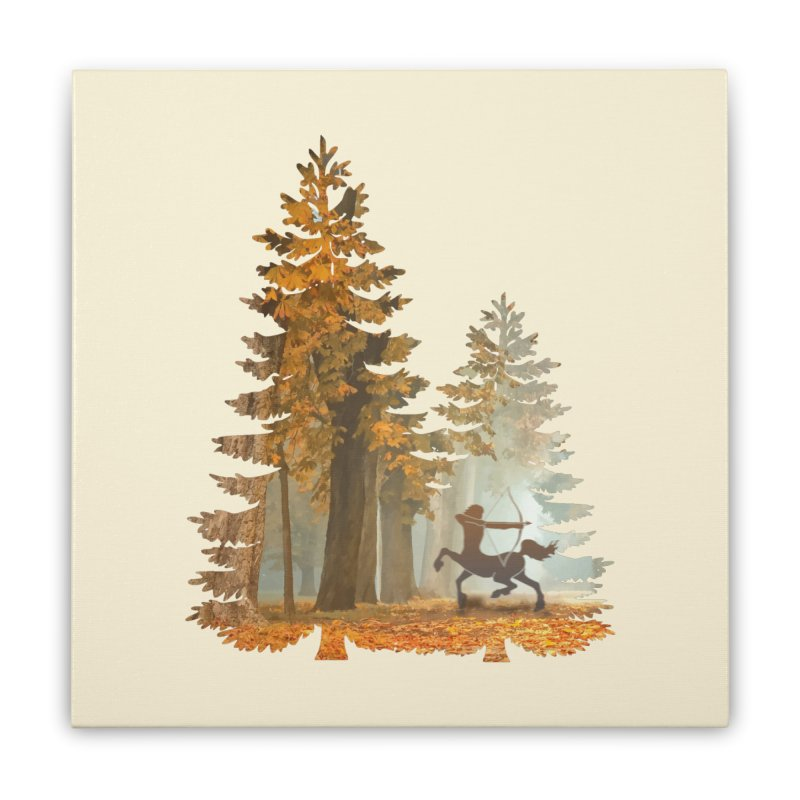 Mystic Hunt Home Stretched Canvas by Ferine Fire