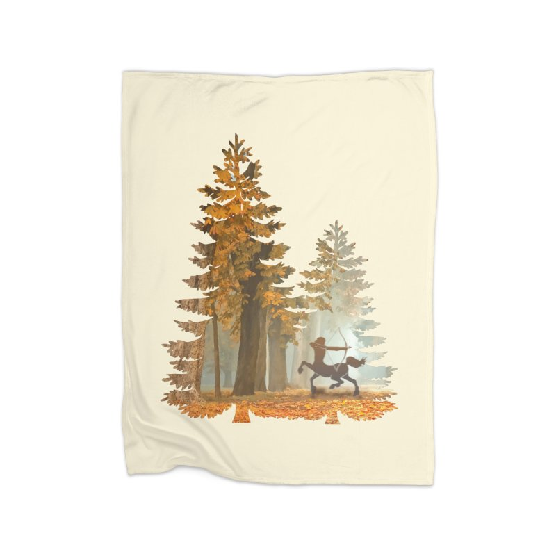 Mystic Hunt Home Fleece Blanket Blanket by Ferine Fire