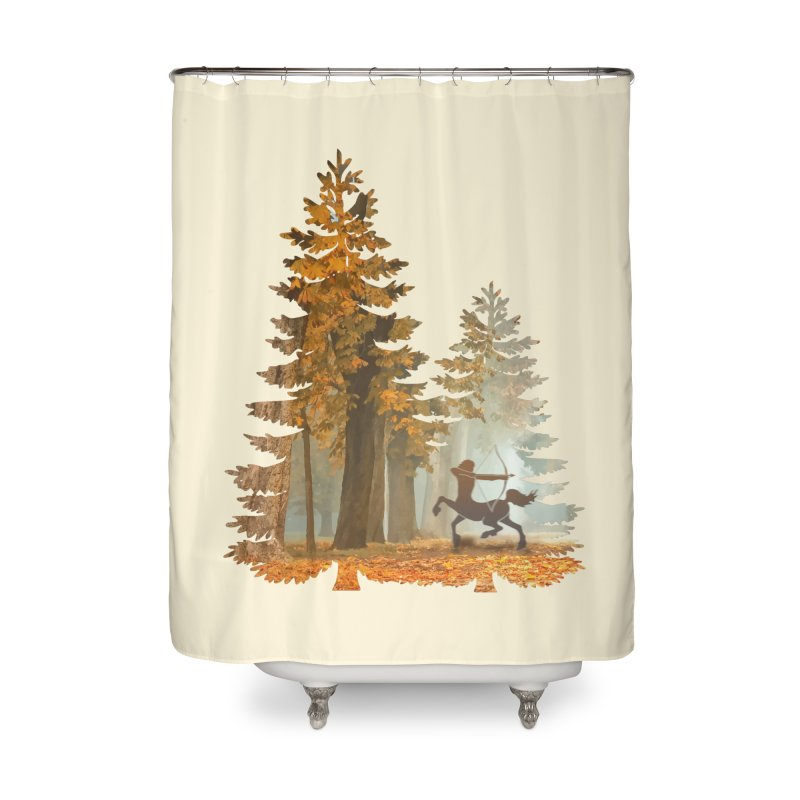 Mystic Hunt Home Shower Curtain by Ferine Fire
