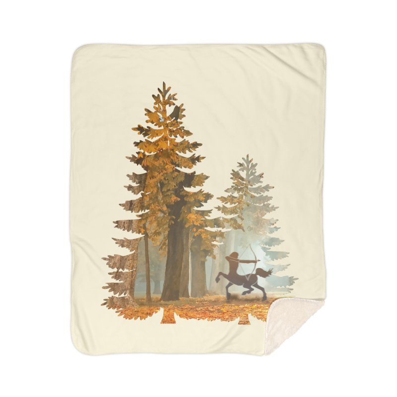 Mystic Hunt Home Sherpa Blanket Blanket by Ferine Fire
