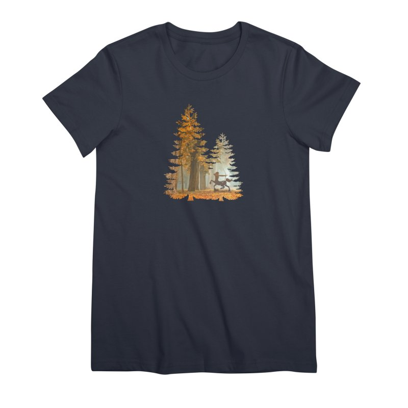 Mystic Hunt Women's Premium T-Shirt by Ferine Fire