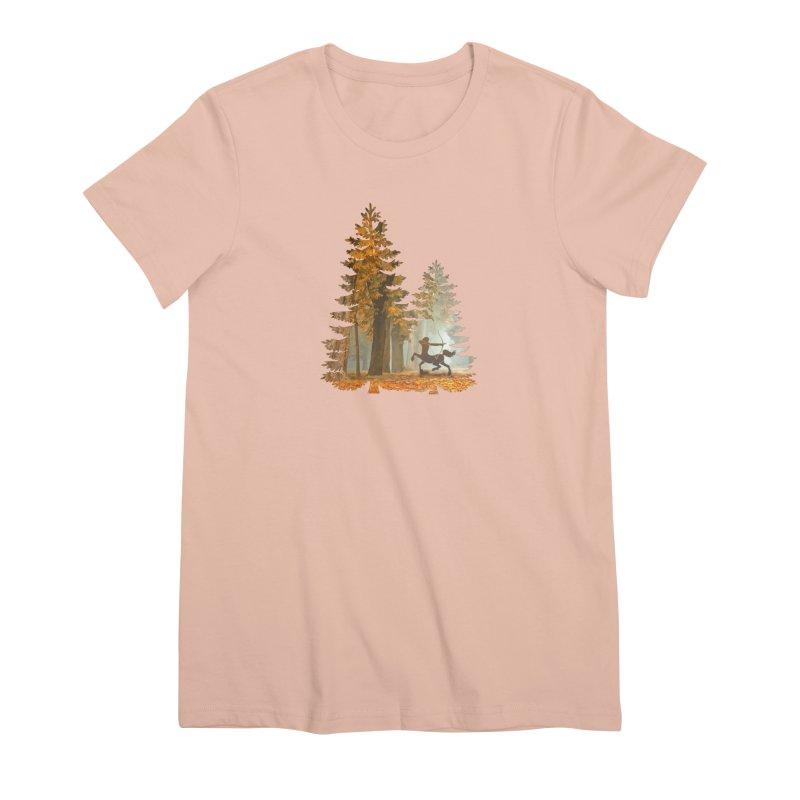 Mystic Hunt Women's Premium T-Shirt by Ferine Fire